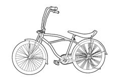 Outline bicycle Royalty Free Stock Image