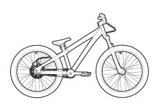 Outline bicycle Royalty Free Stock Photography