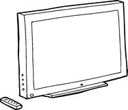 Outline Black TV Royalty Free Stock Photos