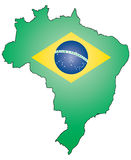 Outline of Brazil Royalty Free Stock Image