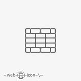 Outline brick wall vector icon Royalty Free Stock Images