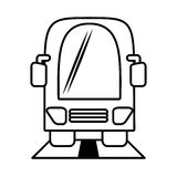 Outline bus vehicule public transport Royalty Free Stock Photos