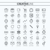 Outline business and finance icons set. You can use this icons for your web and mobile graphical user interface, advertising, etc Royalty Free Stock Images