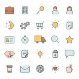Outline business gray icons vector set. Minimalistic style. Part two. Stock Photos
