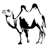 Outline camel vector image. Can be use for logo stock illustration