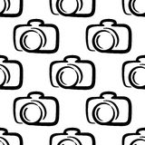 Outline camera seamless pattern background Stock Photo