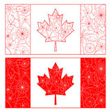 Outline of Canada flag Royalty Free Stock Image
