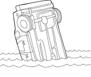 Outline of Car in Water Royalty Free Stock Photo