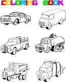 Outline cartoon car Royalty Free Stock Photos