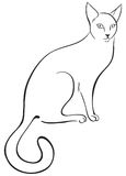 Outline cat Stock Photography