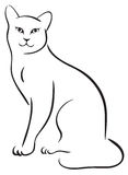 Outline cat Royalty Free Stock Image