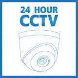 Outline CCTV Security camera icon vector symbol Royalty Free Stock Images