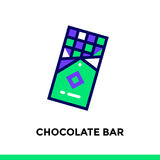 Outline CHOCOLATE BAR icon. Vector pictogram suitable for print,. Vector pictogram suitable for print, website and presentation Royalty Free Stock Images