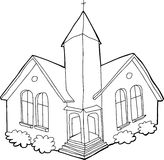 Outline of Church Royalty Free Stock Photography