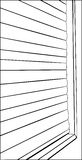 Outline of Closed Window Blinds Stock Photos
