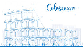 Outline Colosseum in Rome. Italy. Vector illustration. Stock Photo