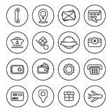 Outline Commercial icon set Stock Photography