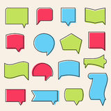 Outline Communicaton Speech Bubbles Shapes Stock Image