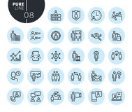 Collection of premium quality business management line icons. Outline concepts for web and app design and development. Modern vector illustration of thin line Stock Photos