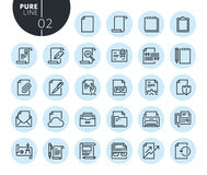 Collection of premium quality office workflow line icons. Outline concepts for web and app design and development. Modern vector illustration of thin line web Stock Images