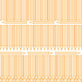 Outline conour pencil seamless pattern Royalty Free Stock Image