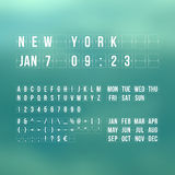 Outline countdown timer and date, flat calendar Stock Images