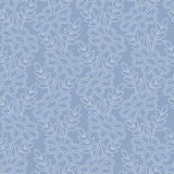 Outline daisies on the blue background Royalty Free Stock Photography