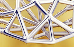 Outline Diamond. Jewelry Background. brilliant grid Royalty Free Stock Image