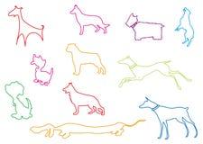 Outline dog stock image