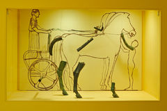 Outline drawing of charioteer composition Stock Photo