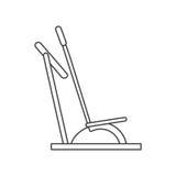 Outline elliptical walker trainer machine gym Royalty Free Stock Photo
