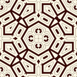 Outline ethnic abstract background. Seamless pattern with symmetric geometric ornament. Vector illustration Stock Photos