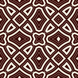 Outline ethnic abstract background. Seamless pattern with symmetric geometric ornament. Vector illustration Royalty Free Stock Images
