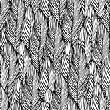 Outline feather seamless pattern Royalty Free Stock Photography