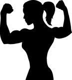 Outline of a female bodybuilder Stock Photos
