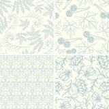 Outline floral patterns Stock Images