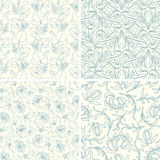 Outline floral patterns Stock Photo