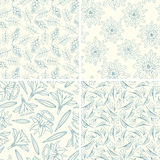 Outline floral patterns Stock Photography