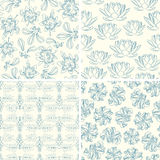 Outline floral patterns Stock Image