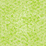 Outline floral seamless pattern with flowers, birds, leaves and swirls. Spring concepts background. Green texture. It can be used for wallpaper, pattern fills Royalty Free Stock Photos