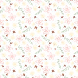 Outline floral seamless pattern Stock Photography