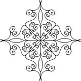 Outline flourish ornament. Vector Stock Image