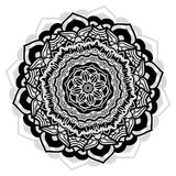 Outline flower mandala indian design. Mandala with floral patterns on white background Royalty Free Stock Images