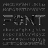 Outline Font Design, Vector Alphabet and Numbers Royalty Free Stock Photography