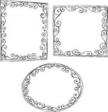Outline Frames Illustration Royalty Free Stock Images