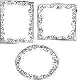 Outline Frames Illustration. On White Background Royalty Free Stock Images