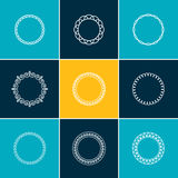 Outline Frames for Labels, Monograms, Badges and Banners Royalty Free Stock Photo