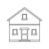 Outline front view house home. Vector illustration eps 10 Stock Images