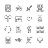 Outline Gamer Icons Stock Photo