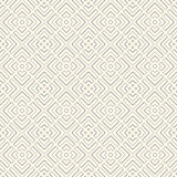 Outline geometric abstract background. Seamless pattern with repeated stylized squares. French maze motif. Stock Images